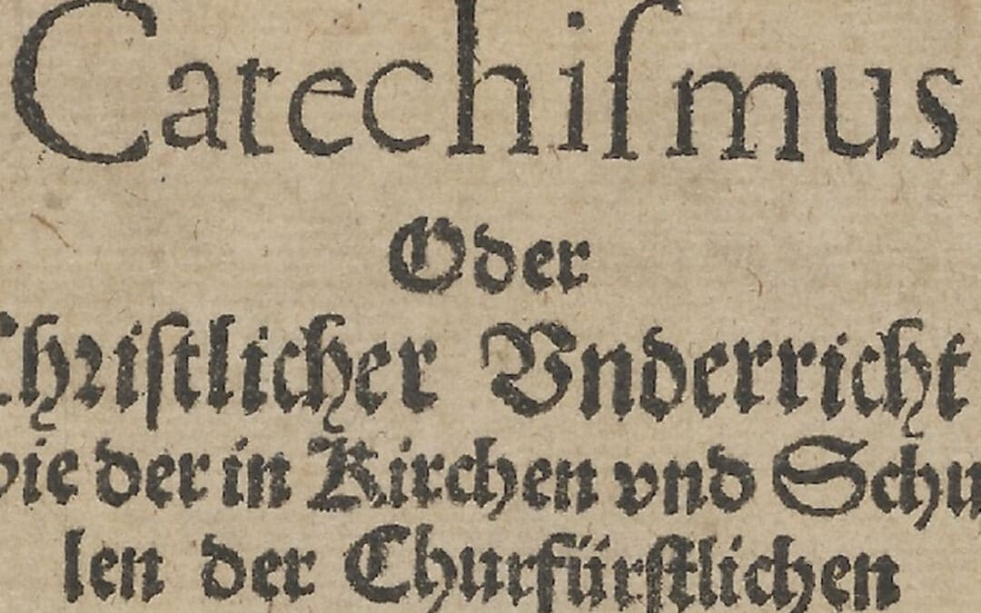 Heidelberg Catechism – Passing along the faith once delivered to the saints…